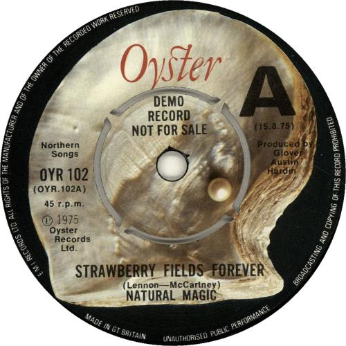 "Natural Magic Strawberry Fields Forever - A Label 7"" vinyl single (7 inch record) UK NT207ST592847"