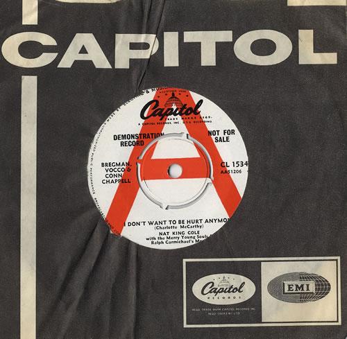 Nat King Cole I Dont Want To Be Hurt Anymore Uk Promo 7 Vinyl