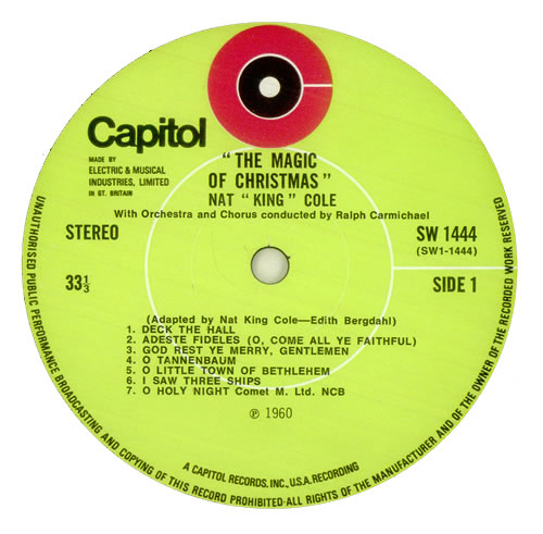 Nat King Cole The Magic Of Christmas Green Label Uk