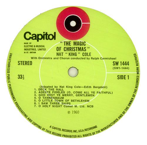 Nat King Cole The Magic Of Christmas - Green Label UK vinyl LP album (LP record) (457216)