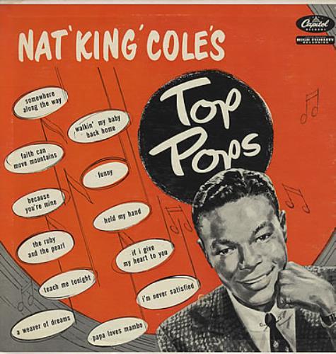 Nat King Cole Top Pops vinyl LP album (LP record) US NKCLPTO376468