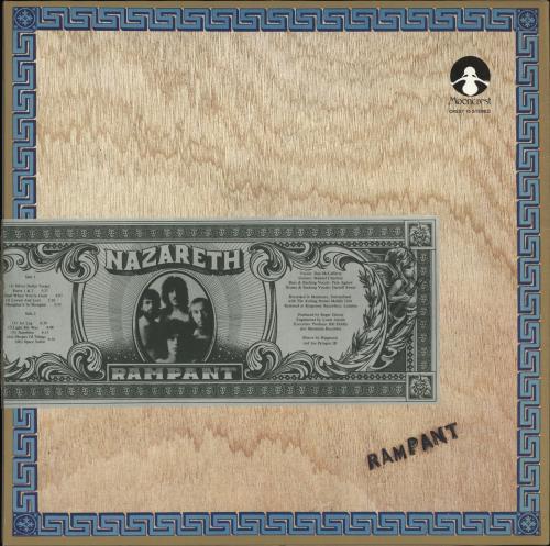 Nazareth Rampant Ex Sticker Uk Vinyl Lp Album Lp