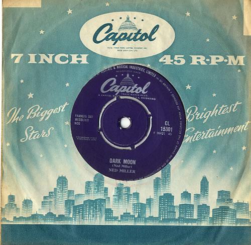 "Ned Miller Dark Moon 7"" vinyl single (7 inch record) UK NMI07DA591975"