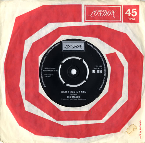 """Ned Miller From A Jack To A King - 3rd - 4prong 7"""" vinyl single (7 inch record) UK NMI07FR559058"""