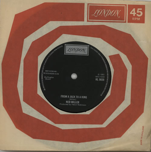 "Ned Miller From A Jack To A King - 3rd - Solid 7"" vinyl single (7 inch record) UK NMI07FR630522"
