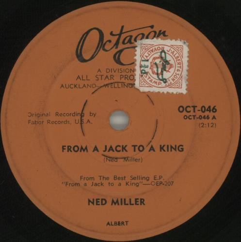 """Ned Miller From A Jack To A King 7"""" vinyl single (7 inch record) New Zealand NMI07FR677819"""