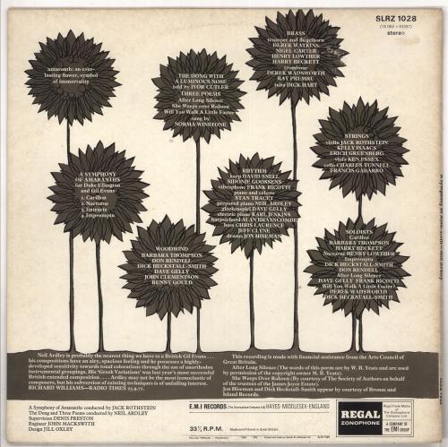 Neil Ardley A Symphony Of Amaranths vinyl LP album (LP record) UK N/ALPAS562792