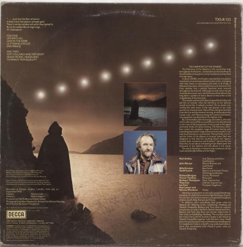 Neil Ardley Harmony Of The Spheres - Autographed vinyl LP album (LP record) UK N/ALPHA727220