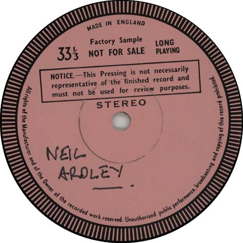 Neil Ardley Harmony Of The Spheres - Test Pressing vinyl LP album (LP record) UK N/ALPHA651789