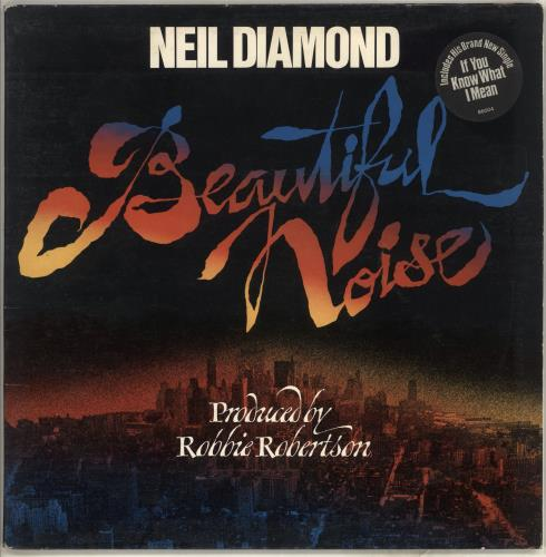 Neil Diamond Beautiful Noise - Stickered Sleeve vinyl LP album (LP record) UK NDILPBE714332