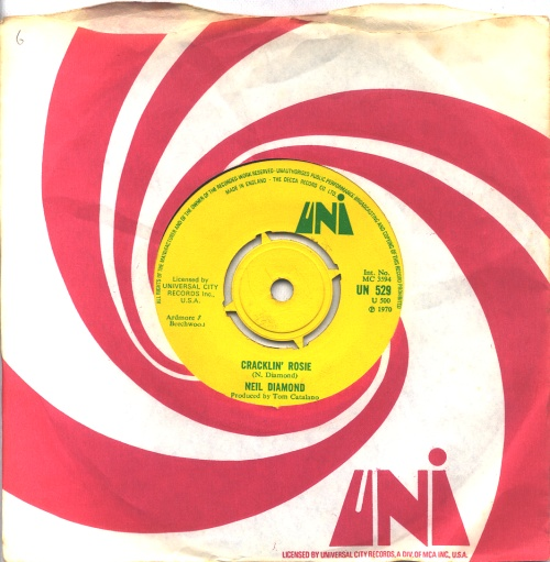 "Neil Diamond Cracklin' Rosie - 4pr 7"" vinyl single (7 inch record) UK NDI07CR569656"