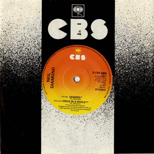 "Neil Diamond Desirée 7"" vinyl single (7 inch record) UK NDI07DE550022"