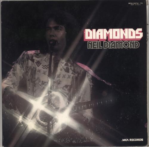 Neil Diamond Diamonds 2-LP vinyl record set (Double Album) Japanese NDI2LDI711376