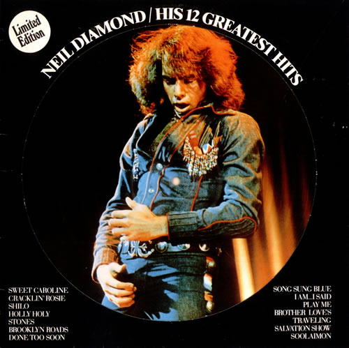 Neil Diamond His 12 Greatest Hits Dutch Picture Disc Lp
