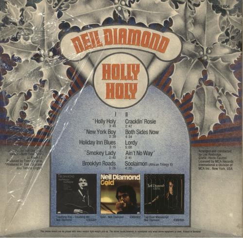 Neil Diamond Holly Holy + Shrink vinyl LP album (LP record) German NDILPHO748585