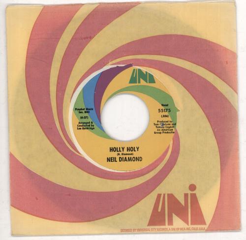 """Neil Diamond Holly Holy 7"""" vinyl single (7 inch record) US NDI07HO650955"""