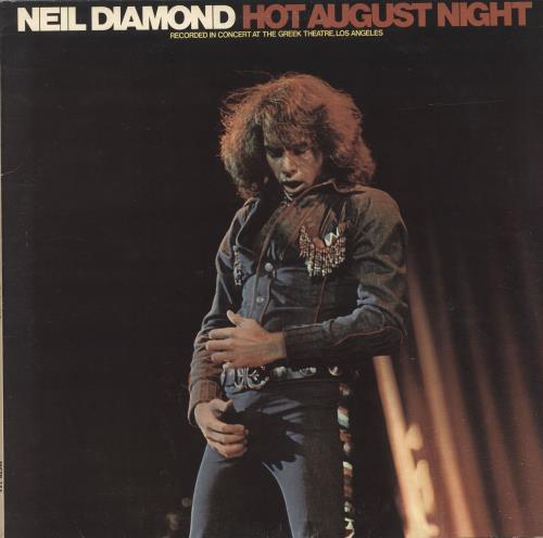 Neil Diamond Hot August Night 2-LP vinyl record set (Double Album) UK NDI2LHO337202