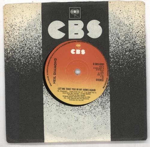 """Neil Diamond Let Me Take You In My Arms Again 7"""" vinyl single (7 inch record) UK NDI07LE733616"""