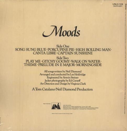Neil Diamond Moods + Shrink vinyl LP album (LP record) UK NDILPMO748610