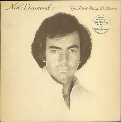 Neil Diamond You Don't Bring Me Flowers - Stickered vinyl LP album (LP record) UK NDILPYO652704