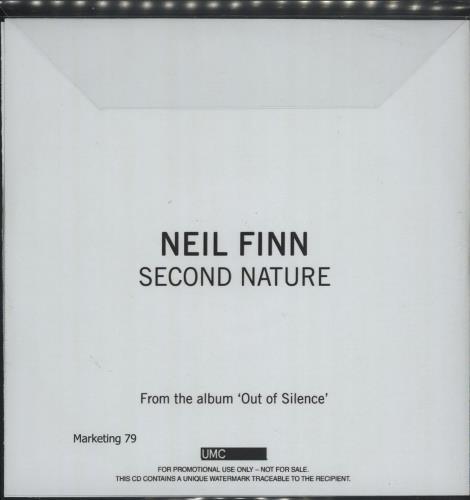 Neil Finn Second Nature CD-R acetate UK NFNCRSE685780