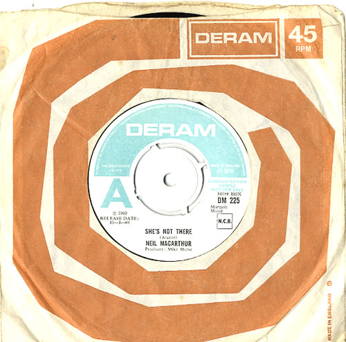 """Neil MacArthur She's Not There - A Label 7"""" vinyl single (7 inch record) UK MQA07SH591170"""