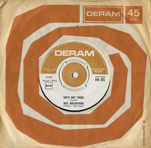 "Neil MacArthur She's Not There - EX 7"" vinyl single (7 inch record) UK MQA07SH579885"