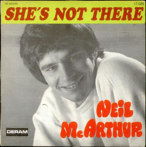 "Neil MacArthur She's Not There - VG 7"" vinyl single (7 inch record) French MQA07SH525386"
