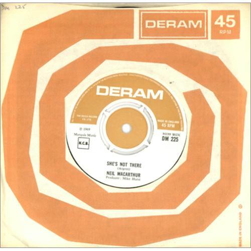 "Neil MacArthur She's Not There 7"" vinyl single (7 inch record) UK MQA07SH414789"