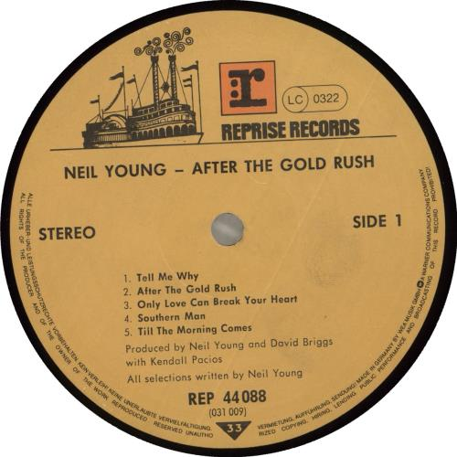 Neil Young After The Gold Rush - Early 80s vinyl LP album (LP record) German YOULPAF435261