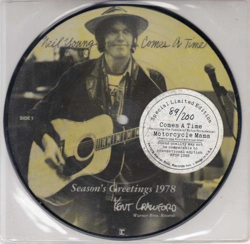 Neil Young Comes A Time Us 7 Quot Vinyl Picture Disc 7 Inch