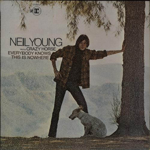 Neil Young Everybody Knows This Is Nowhere - 2nd - VG vinyl LP album (LP record) UK YOULPEV673085