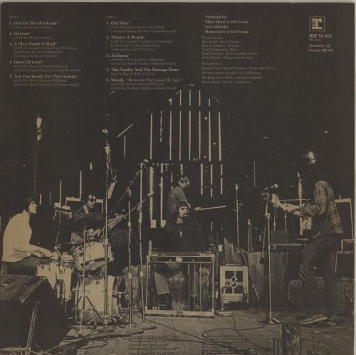 Neil Young Harvest - EX vinyl LP album (LP record) German YOULPHA763581