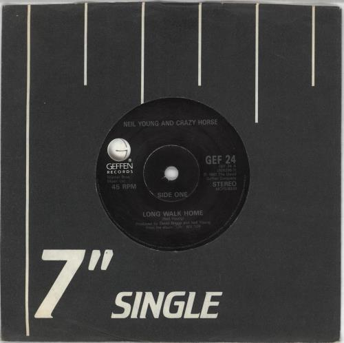 "Neil Young Long Walk Home 7"" vinyl single (7 inch record) UK YOU07LO191851"