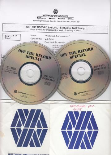 Neil Young Off The Record Special - Part 1 & 2 2 CD album set (Double CD) US YOU2COF655718