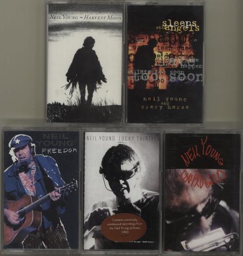 Neil Young Quantity of 6 Neil Young Cassette Albums cassette album UK YOUCLQU682680