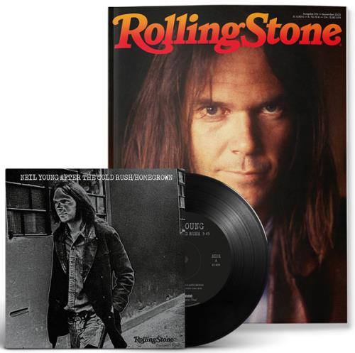 """Neil Young Rolling Stone + Exclusive 7"""" After The Gold Rush/Homegrown magazine German YOUMARO755960"""