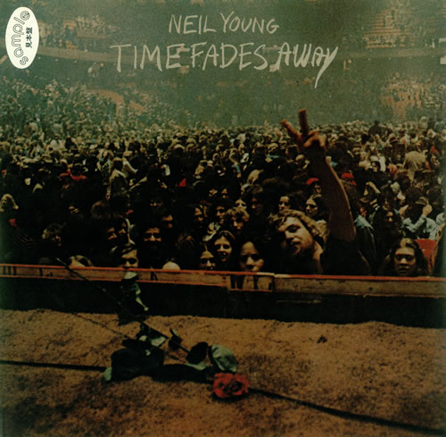 Neil Young Time Fades Away Poster Japanese Promo Vinyl