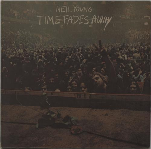 Neil Young Time Fades Away - 2nd + Poster vinyl LP album (LP record) UK YOULPTI660363