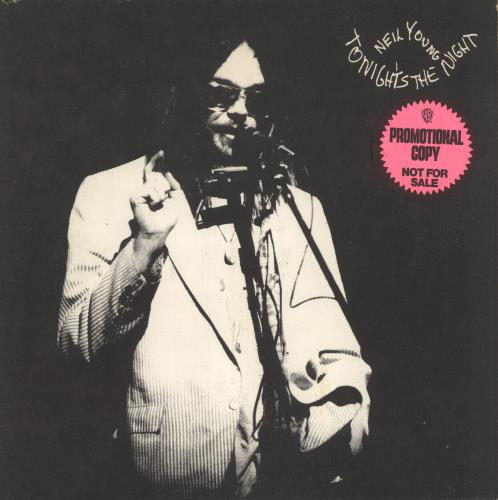 Neil Young Tonight's The Night vinyl LP album (LP record) US YOULPTO149055