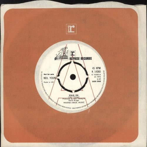 """Neil Young Walk On - A Label 7"""" vinyl single (7 inch record) UK YOU07WA114835"""