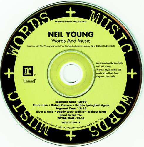 Neil Young Words & Music CD album (CDLP) US YOUCDWO157727