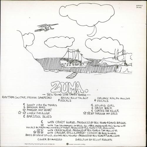 Neil Young Zuma Complete Uk Vinyl Lp Album Lp Record