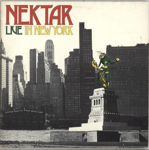 Nektar Live In New York 2-LP vinyl record set (Double Album) German NEK2LLI694038