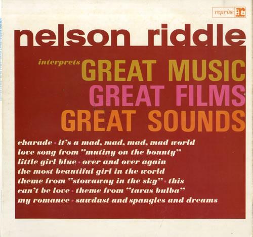 Nelson Riddle Great Music, Great Films, Great Sounds vinyl LP album (LP record) UK NLRLPGR563902