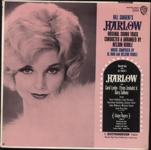 Nelson Riddle Harlow Soundtrack vinyl LP album (LP record) US NLRLPHA746838