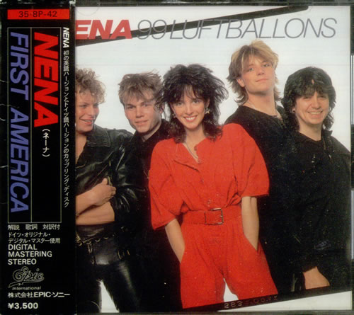 NENA 99 Luftballons Original 1984 Japanese 11 Track CD Album Complete With English German Text Lyric Booklet Picture Sleeve Plus The Rare
