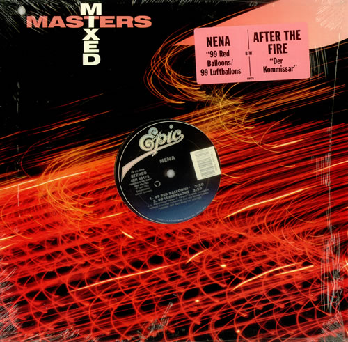 NENA 99 Red Balloons 1989 US 3 Track 12 Vinyl EP Issued As Part Of The Mixed Masters Series Also Featuring German Version