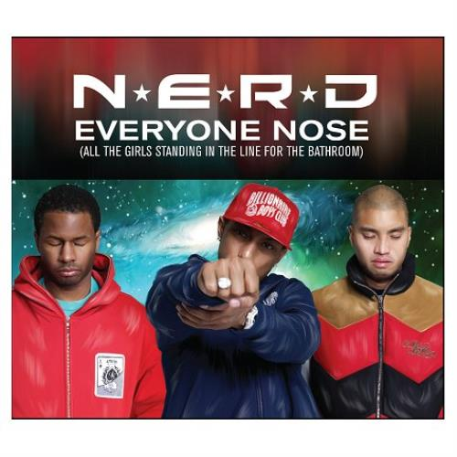 "NERD Everyone Nose [All The Girls Standing In The Line...] CD single (CD5 / 5"") UK NRDC5EV438457"