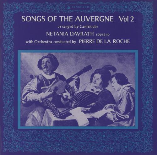 Netania Davrath Songs Of The Auvergne Vol. 2 vinyl LP album (LP record) UK N17LPSO760933